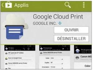 Installer Google cloud Print