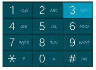 Ouvrez l'application Téléphone et maintenez une pression longue sur la touche concernée