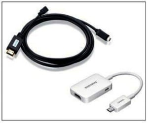 Raccorder le Galaxy S5 à un téléviseur en HDMI