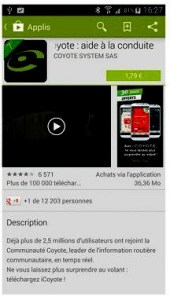l'application est payante