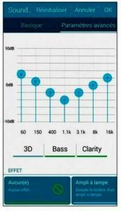 Configurer l'égaliseur audio