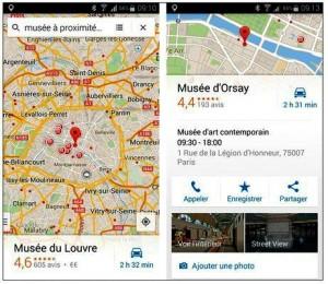 Localiser un lieu avec Maps