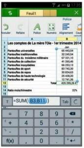 Éditer des formules Excel