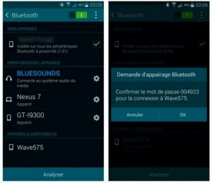 Appairer deux appareils en Bluetooth