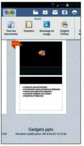 Kingsoft Office et ses options de gestion des documents