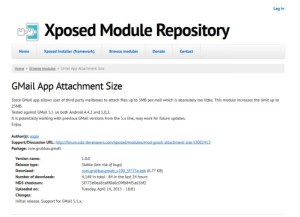 Gmail app attachment size