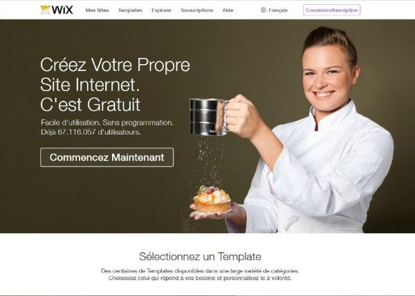 Créer un site en français avec Wix