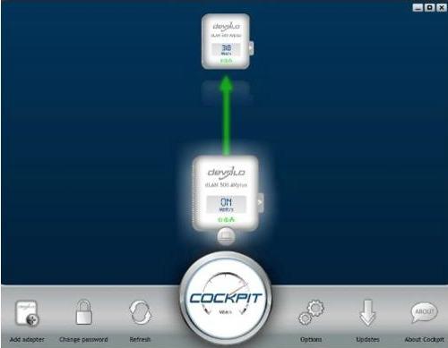 Le logiciel Cockpit de Devolo permet de gérer chaque duo de prises et de connaître le taux de transfert actuel
