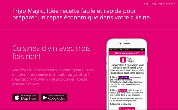 Le site Frigo Magic