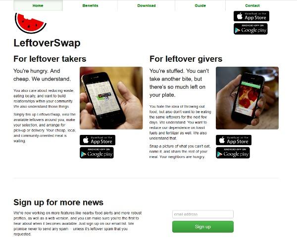 Le site LeftoverSwap