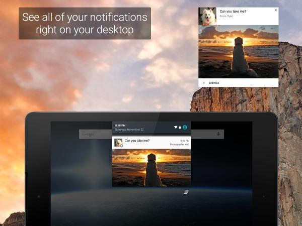 Voir toutes vos notifications sur votre bureau