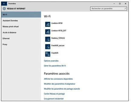 Windows affiche tous les réseaux Wi-Fi détectés