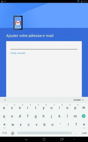 Ajouter une adresse Gmail