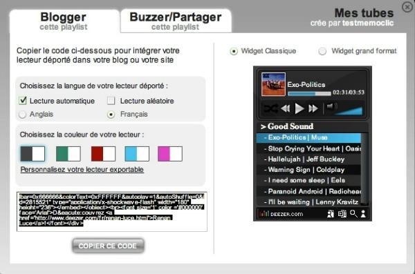 Intégrer Deezer sur les sites web