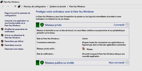 Pare-feu Windows
