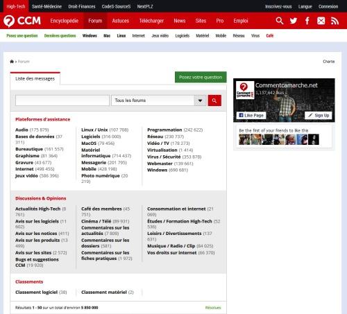 forum du site commentcamarche