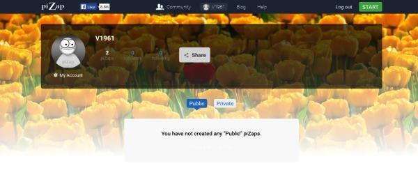 la page piZap
