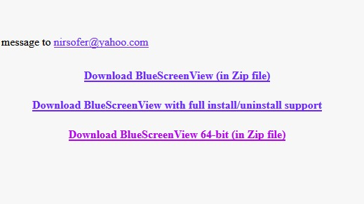 Appli BlueScreen View