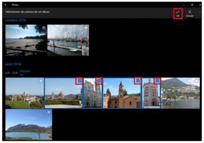 Ajouter-des-photos-à-un-album avec Photos de Windows 10