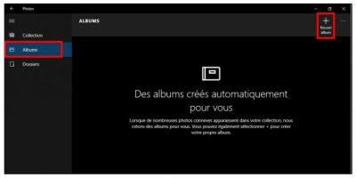 Créer-un-album photos windows 10