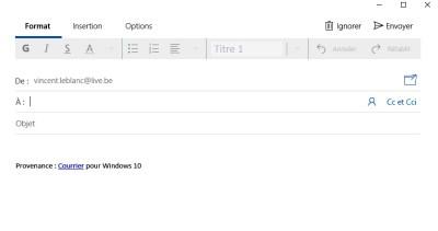 Ecrire un mail dans courrier