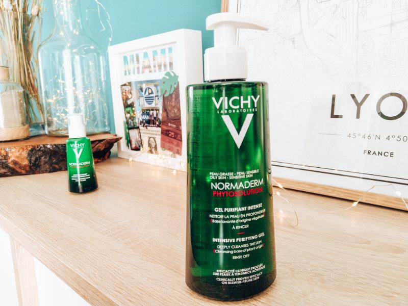 Au secours mon acné revient - Mon peau de creme- Emonoé - Vichy gel nettoyant normaderm Phytosolution