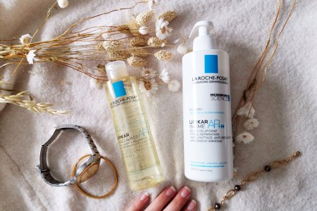 J'ai testé l'huile lavante Lipikar AP+ et le baume Lipikar AP+M - La Roche Posay - Astuces et conseils beauté - Mon peau de Crème