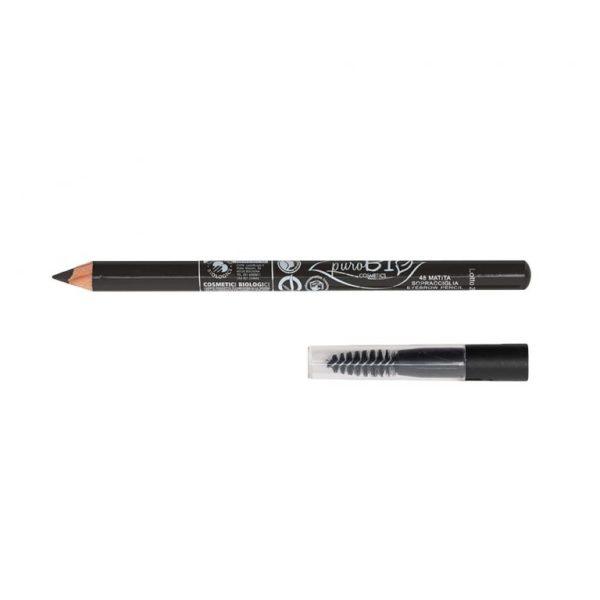 Crayon sourcils noir carbone - coffret maquillage personnalisé - Mon peau de crème Emonoé - Purobio