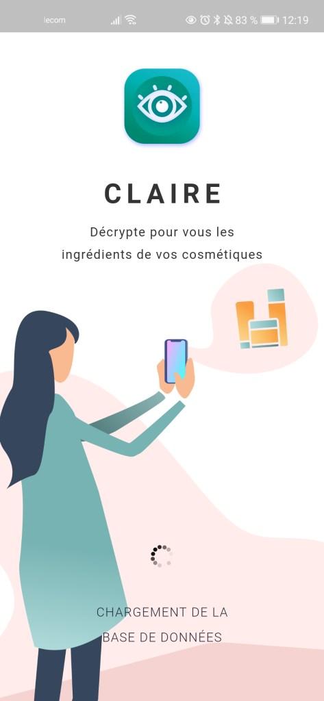 Application CLAIRE - Décrypte les ingrédients