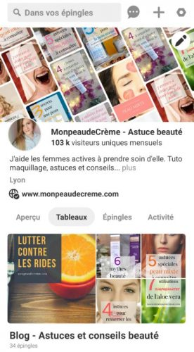 Pinterest - pour augmenter le trafic du blog