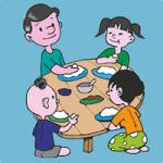 manger en famille