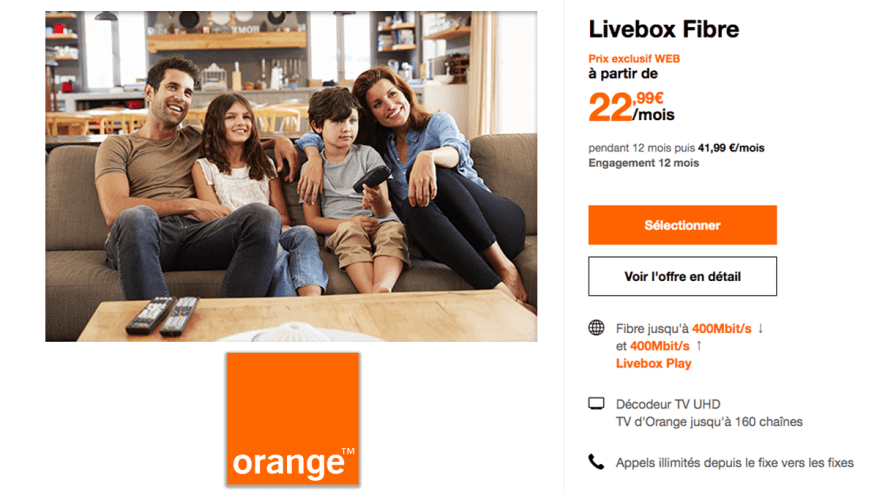 Orange Fiber Livebox on sale.