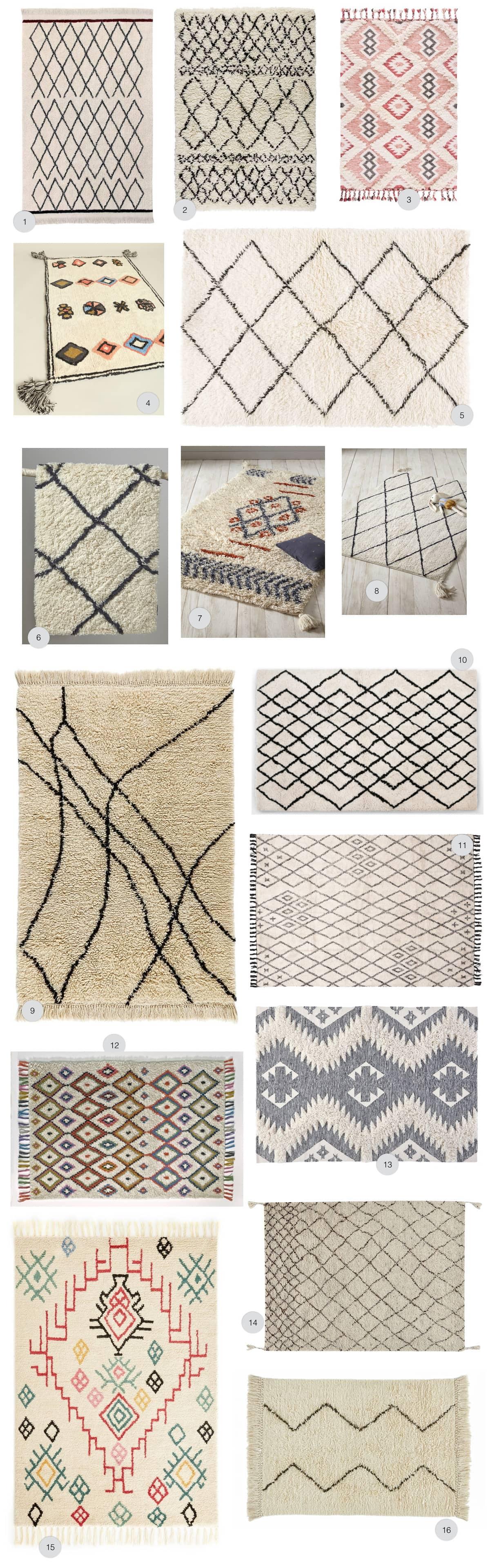 ou acheter un tapis style berbere en
