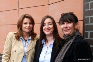 Stéphanie Mauro et Sandrine Laigneau les propriétaires du SPA et Caroline Florelli