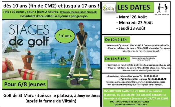 Stage Golf Fin Aout