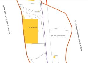 Plan du cadastre montrant le terrain occupé par les Roms