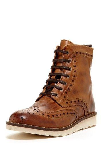 Work boots cognac