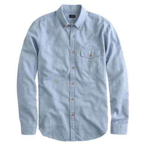 Chemise bleu oxford coton brossé