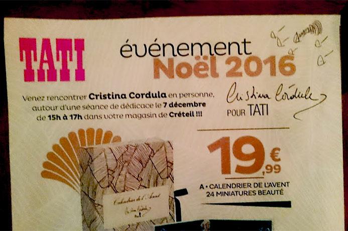 Affiche dédicace Cristina Cordula Tati Créteil