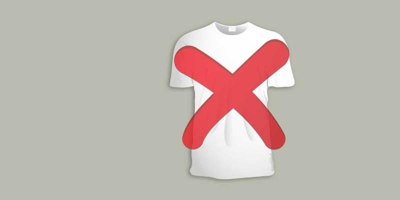 interdit t-shirt blanc
