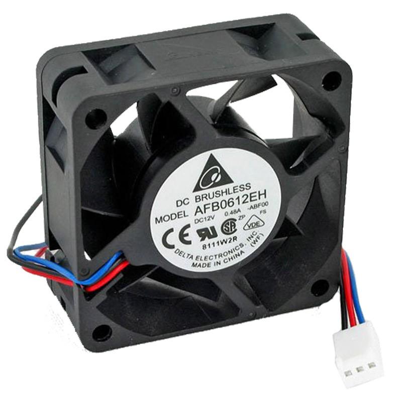 ventilateur dc brushless afb0612eh dc 12v cooling fan 3 pin 60x60x25mm fil 3cm monsieurcyberman