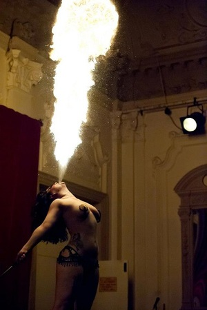 2+Aurora+Galore+Neo+Fire+Burlesque+Performer+Tattooed+Circus+Fire+Breather+Eater+Bush+Hall+Steampunk+Circus+Costume+Victorian+Gypsy+Erotic+Awards
