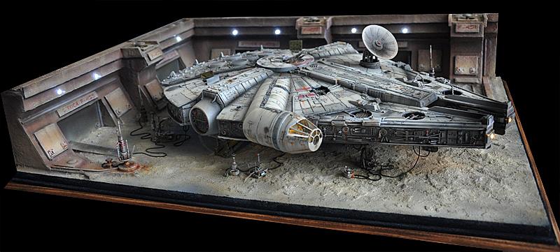 Faucon Millenium diorama