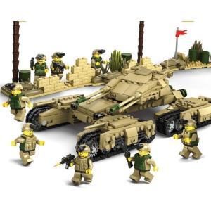 """Mega Tank de 1242 pièces - combinaison de 4 """"Main Battle Tanks"""""""