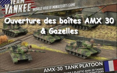 Team Yankee – Ouverture des boîtes AMX 30 et Gazelles