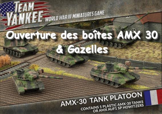 Ouverture des boîtes AMX 30 et Gazelles