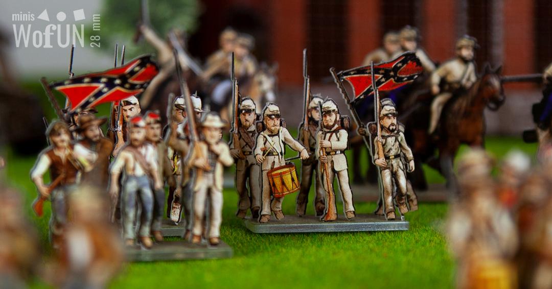 Soldats confédérés 28mm