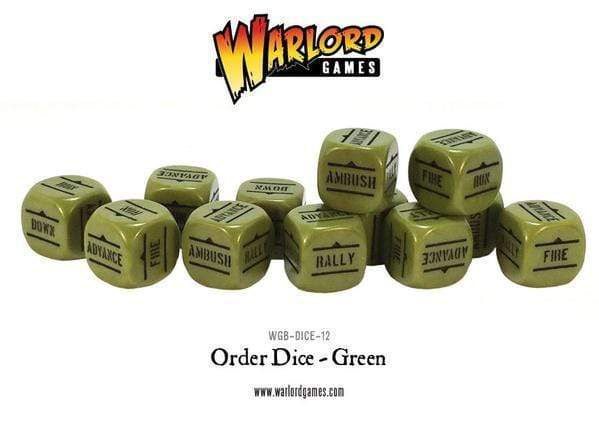 Bolt Action Allied Star Dice Bag & Order Dice (Green)