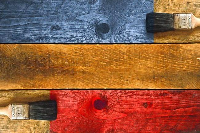 peindre sur du bois grandes etapes et