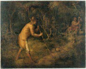 Painting of Tom Walker meeting the Devil